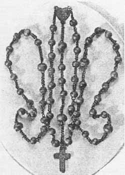 The Rosary Beads used by St. Bernadette